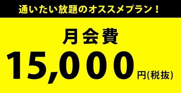 月会費15,000円(税抜)